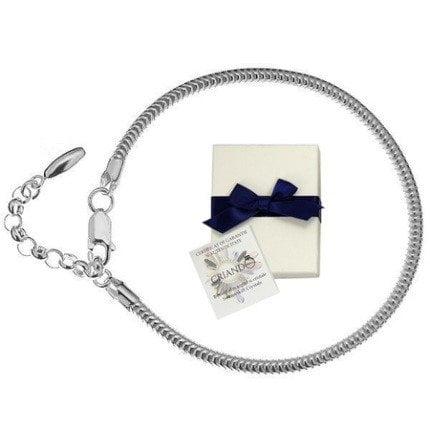 Bratara Argint.925, Bratara tip PANDORA + CADOU Laveta profesionala pentru curatat bijuteriile din argint + Cutie Cadou