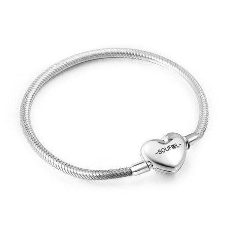 Bratara Argint in Forma de Inima