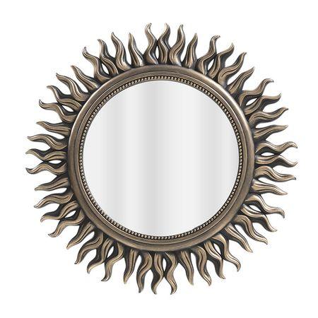 Oglinda din Plastic Auriu Antichizat D53cm