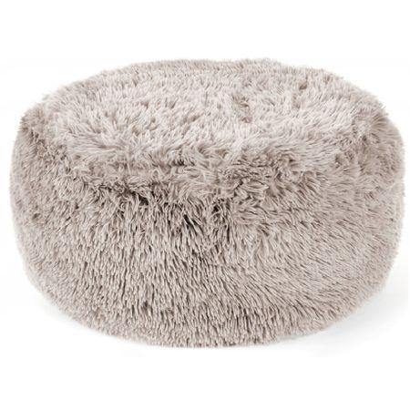 Taburet, Puf gonflabil Elmo Bej, 65 cm, design elegant, material pufos de inalta calitate