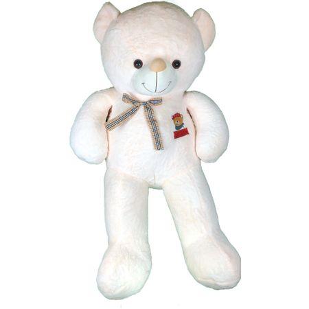 Urs de plus urias, Jucarii pentru Craciun, Crem/rosu, 120 cm