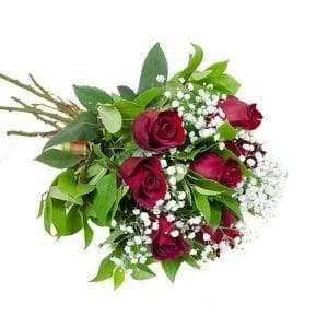 Buchet cu 7 trandafiri rosii Freedom